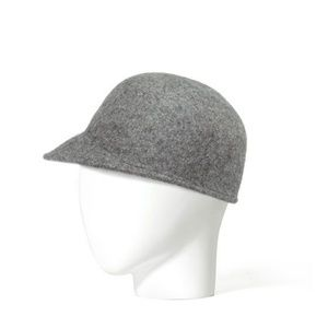 ZARA Grey Wool Felt Cap Hat